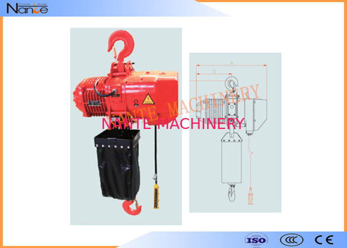 Hard Hook Electric Chain Hoist With 360 Degree Rotatable Safety