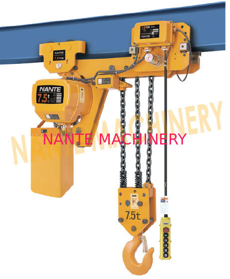 7.2 m / Min Max Lifting Speed 10 Ton Electric Chain Hoist For Single / Double Speed