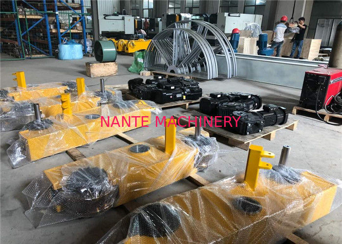 Hollow Shaft End Truck / End Carriage Crane Bogie Style For Overhead Crane Spare Parts