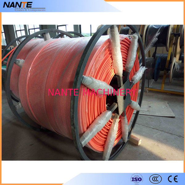 CE High Tro Reel System Seamless Conductor Bar / Busbar For Crane Parts