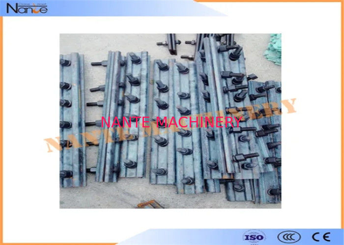 Steel Standard Rail Fish Plate Mobile Crane Components For Crane Rail Running