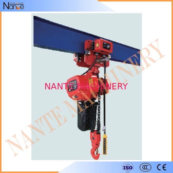 Single Phase IP54 / IP55 3 Ton Electric Chain Hoist With Pendent Control