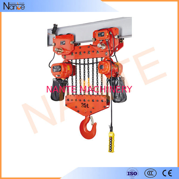 Light Weight 2 Ton / 5 Ton Electric Hoist Trolley With Safety Hook